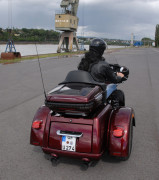 Harley-Davidson Tri Glide Ultra in der Heckansicht