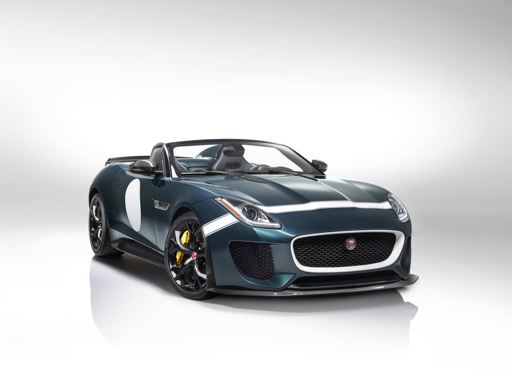 Sport-Roadster Jaguar F-Type Project 7 in der Frontansicht
