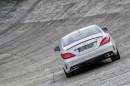 Mercedes-Benz CLS 63 AMG auf der Rennstrecke bei den Tests
