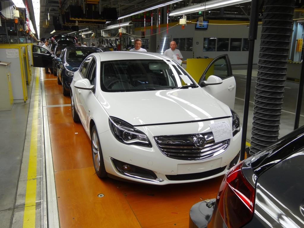 Die Insignia-Produktion im Opel Werk Rüsselsheim