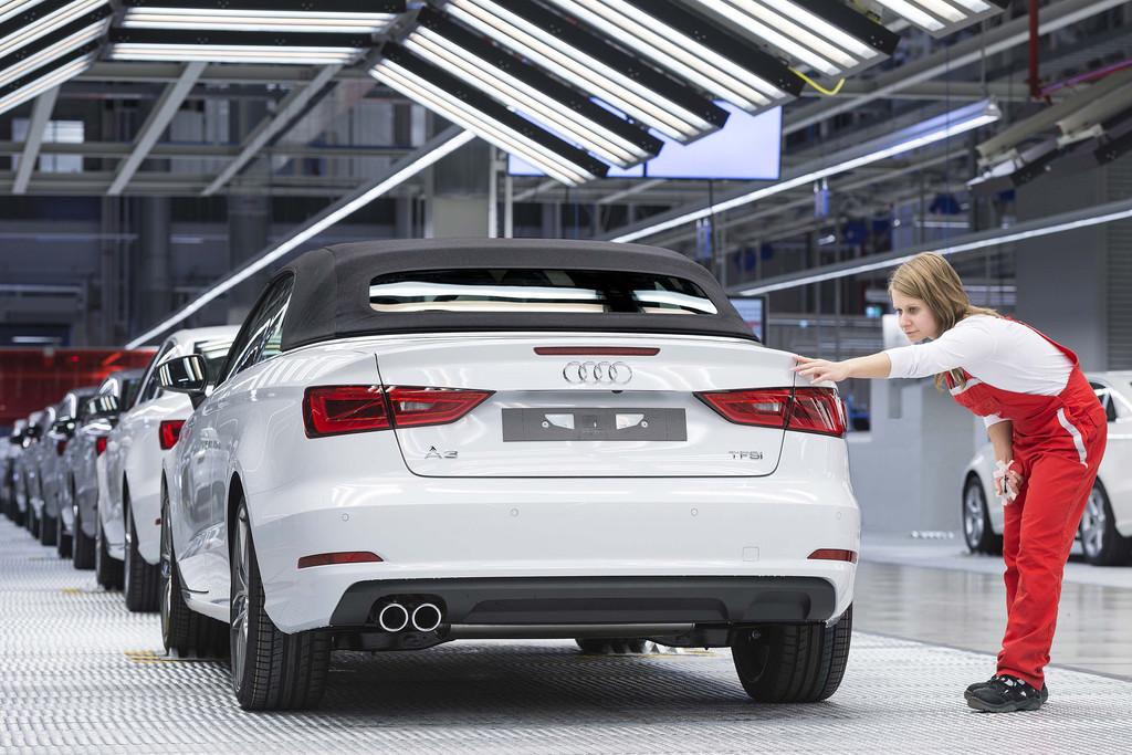 Das Audi A3 Cabriolet wird im udi Werk produziert