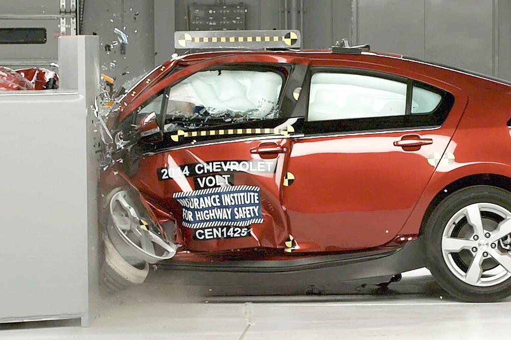 Nur beim Frontal-Crash überzeugend –der Chevrolet Volt.