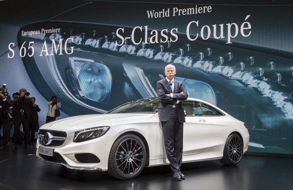 Daimler-Chef Dr. Dieter Zetsche bei der Präsentation des neuen Mercedes-Benz S-Klasse Coupé in Genf.