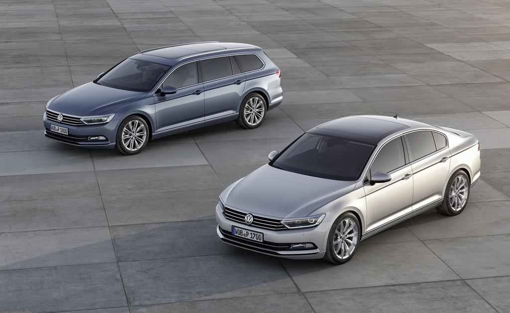 Die achte Generation des Volkswagen Passat als Limousine und als Kombi