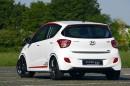 Die Heckpartie des Sondermodells Hyundai i10 Sport