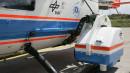 Kameragehäuse an der Außenseite des DLR-Hubschraubers.