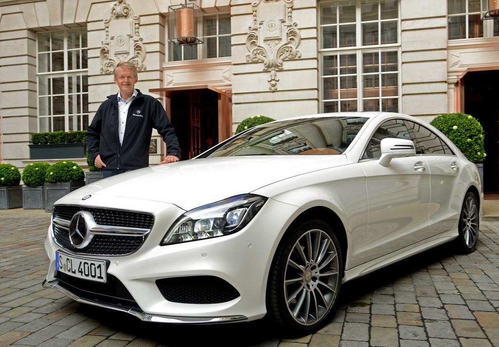 Mercedes-Benz CLS Shooting Brake 2014 in weiß mit Thomas Weber