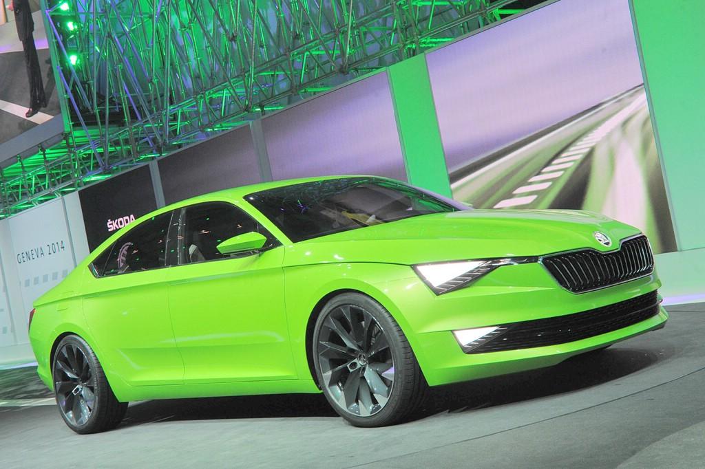 Skoda Concept Car Vision C in grün