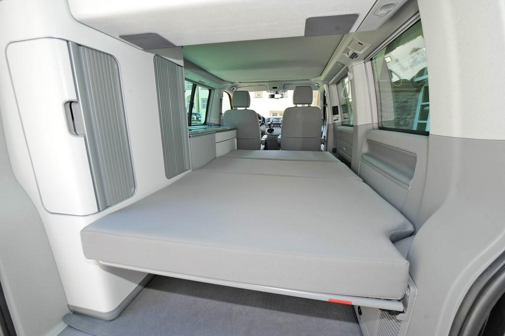 Das Bett im aktuellen VW California