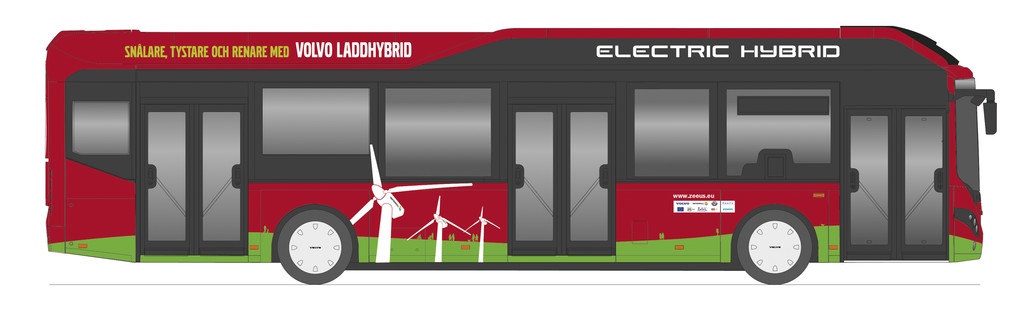 Ab Herbst 2014 wird der Bus Volvo 7900 Electric Hybrid in Schweden rollen
