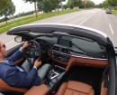 Fahren im BMW M4 Cabrio, ausgestattet mit Vollleder