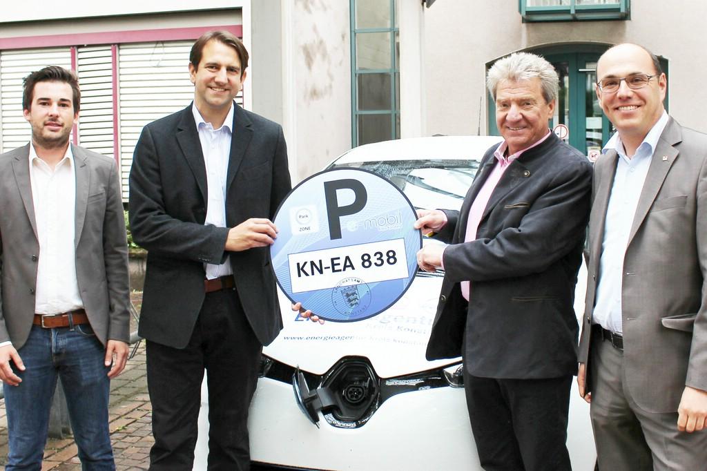 """Die Organisatoren im Landkreis Konstanz sind zufrieden mit ihrer """"Blaue Plakette""""-Initiative."""