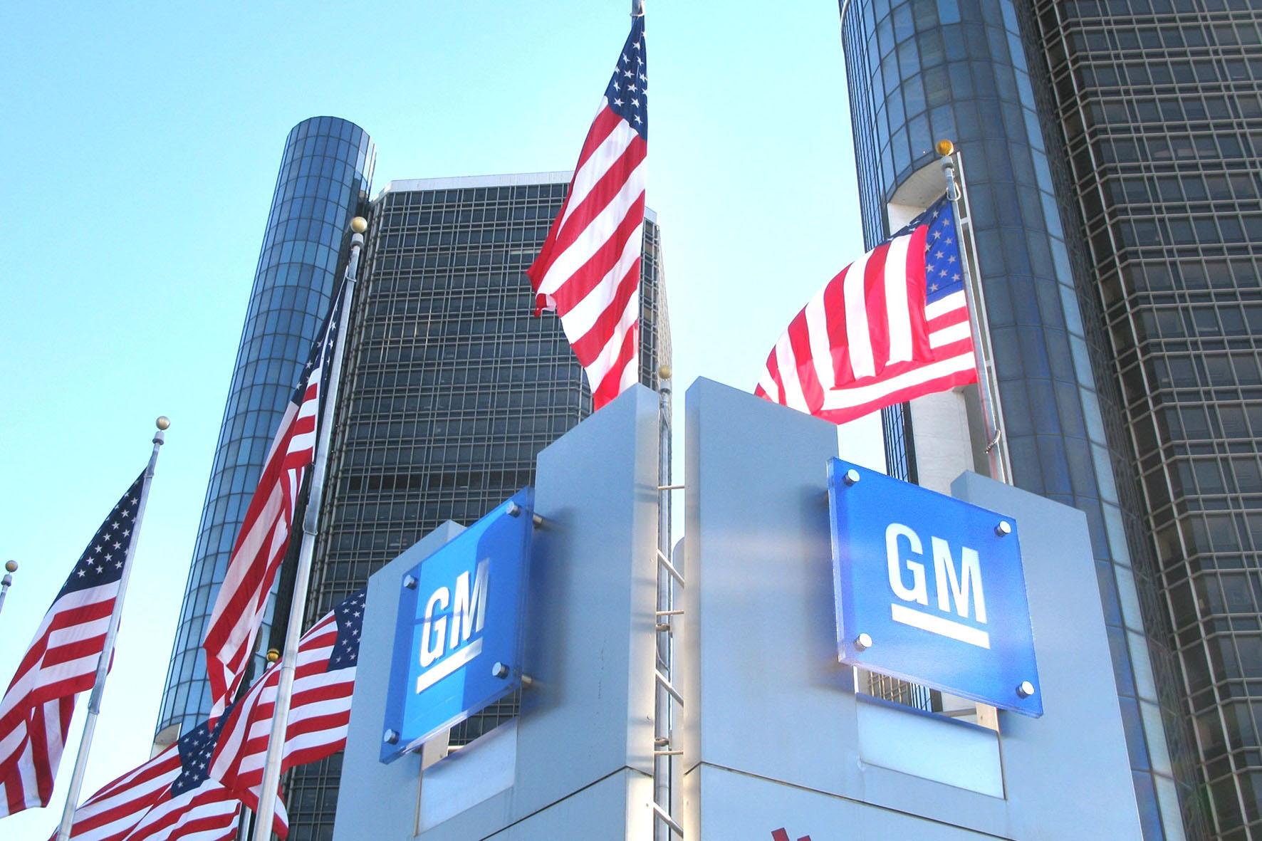 Die Firma General Motors in Detroit
