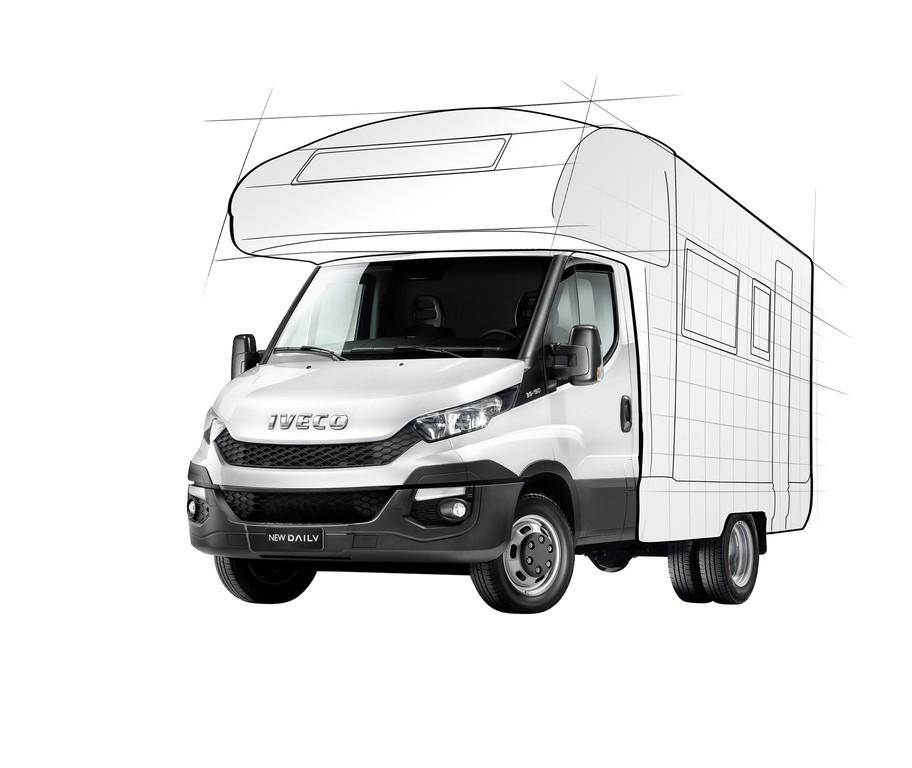 Skizze vom 2015er Wohnwagen Iveco Daily
