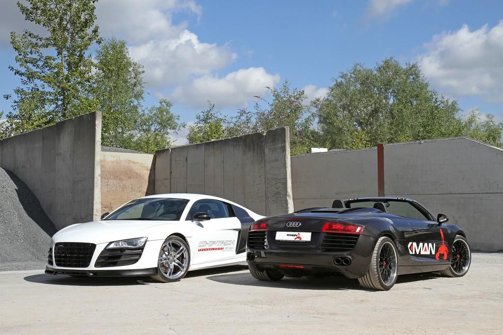 K.MAN Audi R8 in schwarz und weiß mit bis zu 750 PS