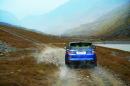 Range Rover Sport SVR in Blau Pressefoto Land Rover