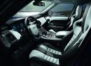Fahrer und Beifahrer Sitz des Range Rover Sport SVR