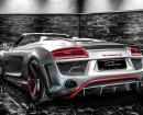 Audi R8 mit Spoiler und breiten Felgen