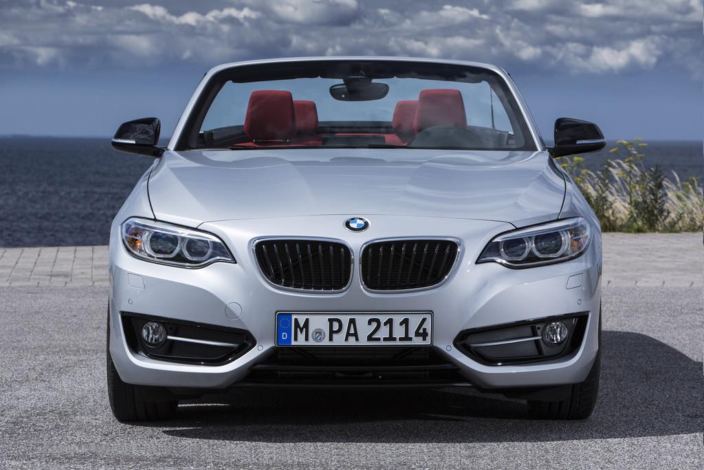 Der Grill und die Frontschürze des BMW 2er Cabrio
