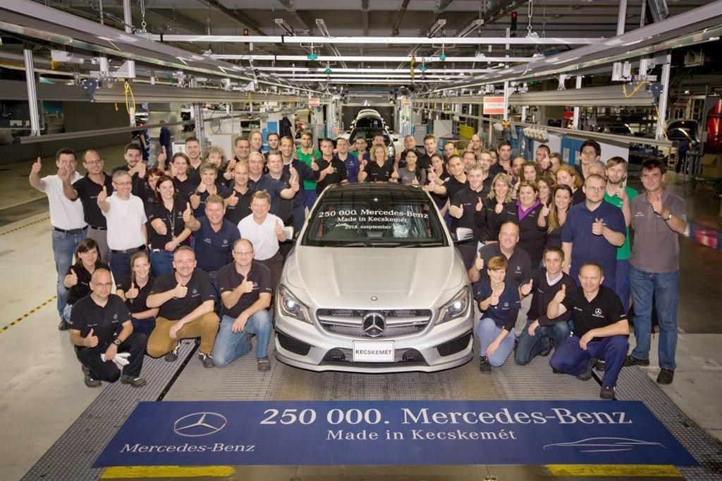 Allein 100.000 CLA hat Mercedes im ungarischen Kecskemét schon gebaut.