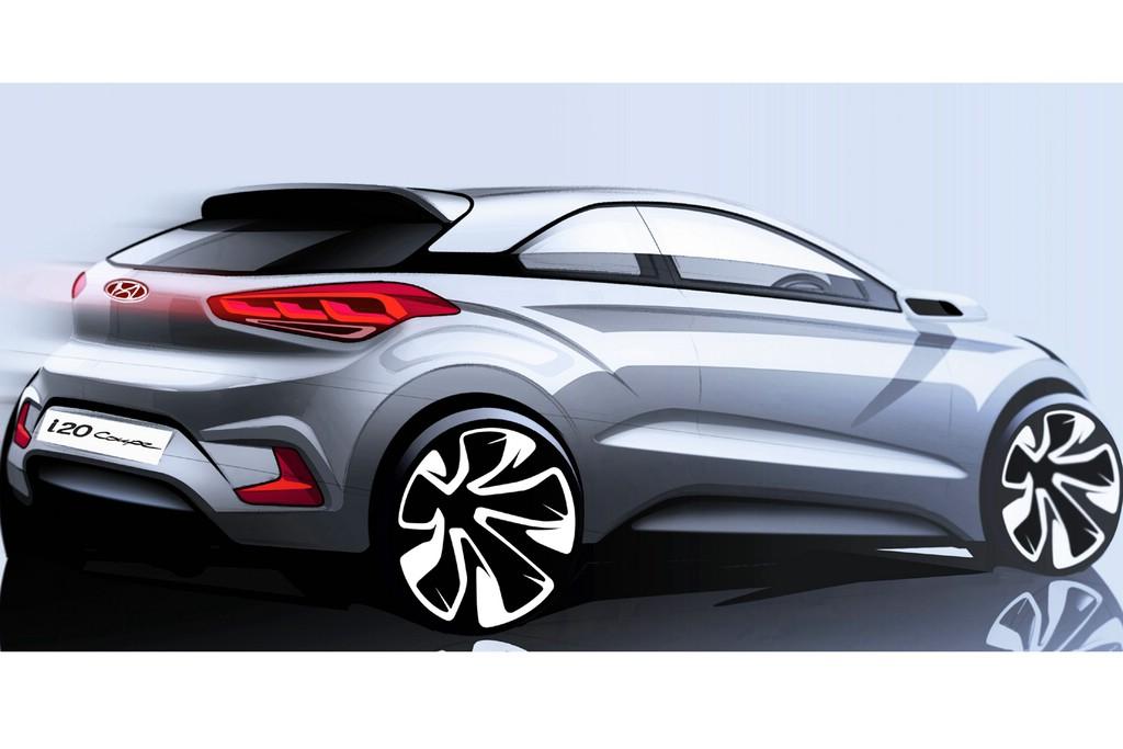 Hyundai i20 Dreitürer 2015 als Skizze