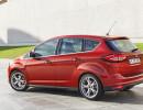 Roter Ford C-Max Facelift-Modell 2015 in der Seiten- Heckansicht