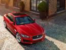 Mittelklassewagen Jaguar XE Baujahr 2014 in der Frontansicht