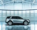 Die Seitenansicht des 2015er Land Rover Discovery Sport