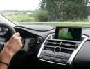 Das Display in der Mittelkonsole des Lexus NX300h