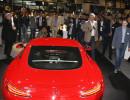Roter Mercedes-Benz AMG GT in der Heckansicht