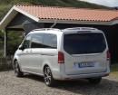 Die Heckansicht des Mercedes-Benz V220 CDI
