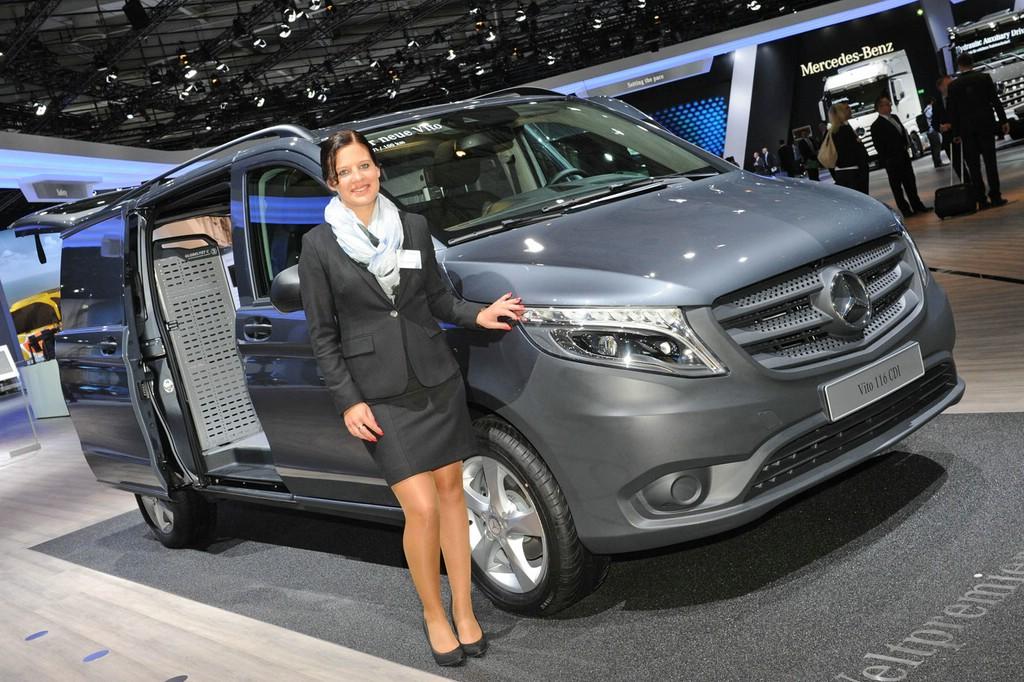 Der neue Mercedes Vito spielt auf Angriff. IAA 2014