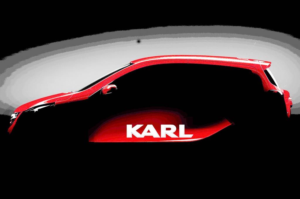 Der Opel Karl noch verhüllt