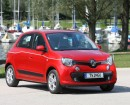 Renault Twingo III in rot in der Frontansicht
