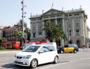 Der CNG-Kleinstwagen Seat Mii bei den Tests in Barcelona