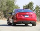 Die Heckpartie des Cadillac ATS Coupé (Rote Außenlackierung)