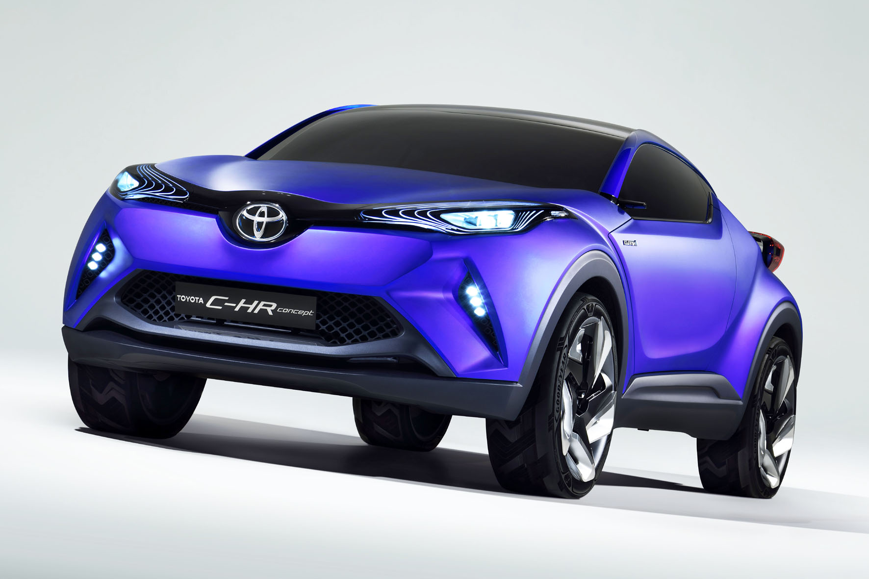 Konzeptauto Toyota C-HR in blau 2014