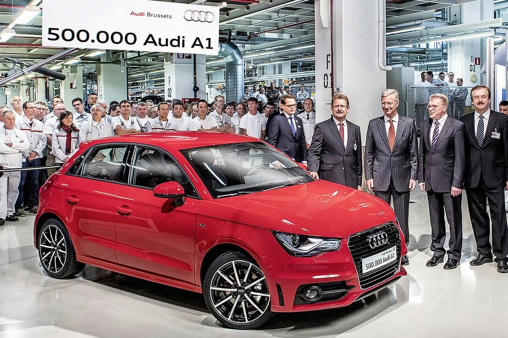 Eine halbe Million gefertigter Audi A1 am Standort Brüssel