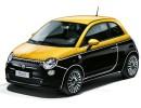 Fiat 500 Comics mit Nähten in schwarz gelb