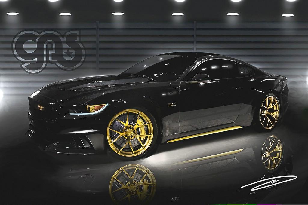 Der von GAS getunte Mustang glänzt mit klassischem Schwarz/gold – und üppigen 730 PS.