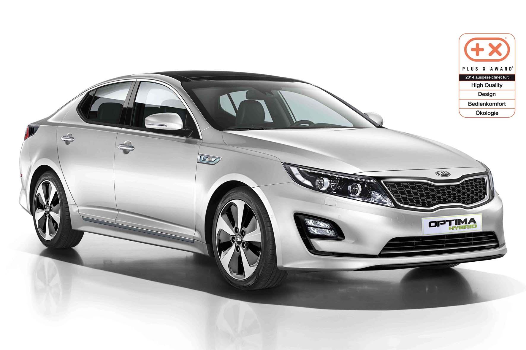 """Der Kia Optima Hybrid wurde mit dem """"Plus X Award"""" ausgezeichnet."""