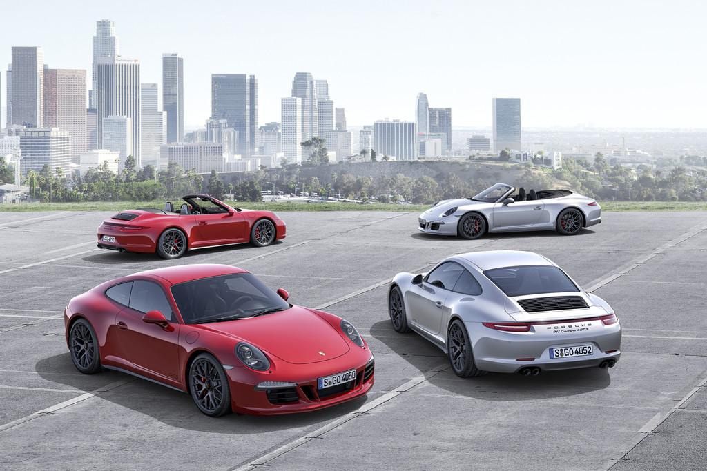 Porsche 911 Carrera GTS und 4 GTS Modelle als Coupe und als Cabriolet