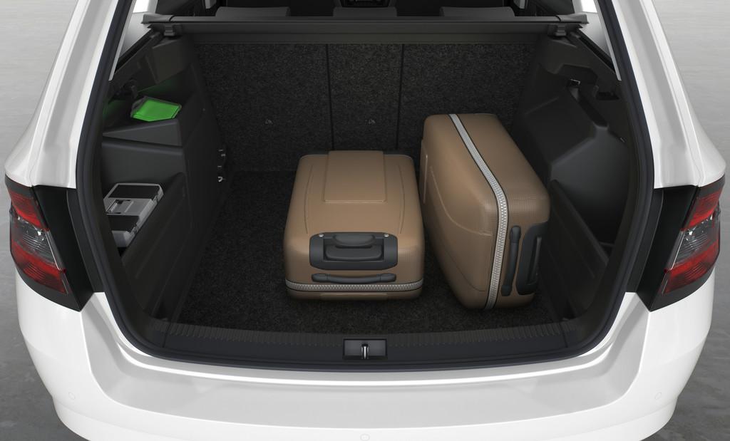 Der Kofferraum des Skoda Fabia Combi schluckt min. 530 Liter