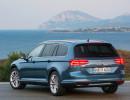 Volkswagen Passat Variant in Blau in der Heckansicht