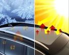 Volkswagen-Workshop zu Innovationen: 400-Nanometer-Folie hält Wärme draußen und drinnen.