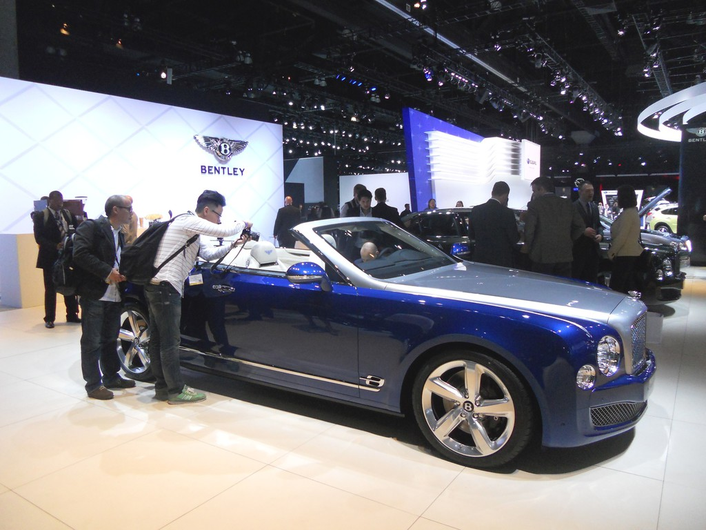 Bentley Grand Convertible auf der Los Angeles 2014