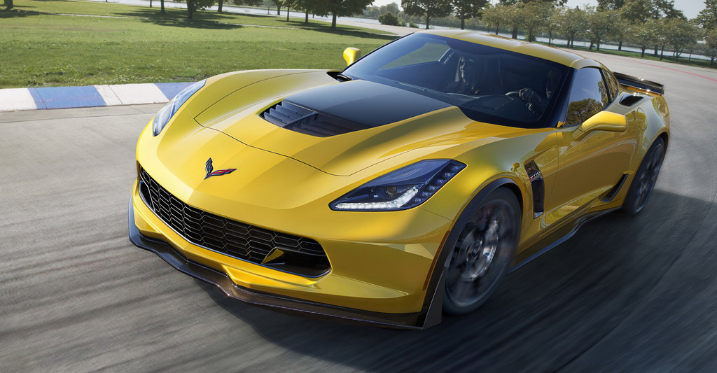 2015er Chevrolet Corvette Z06 in gelb