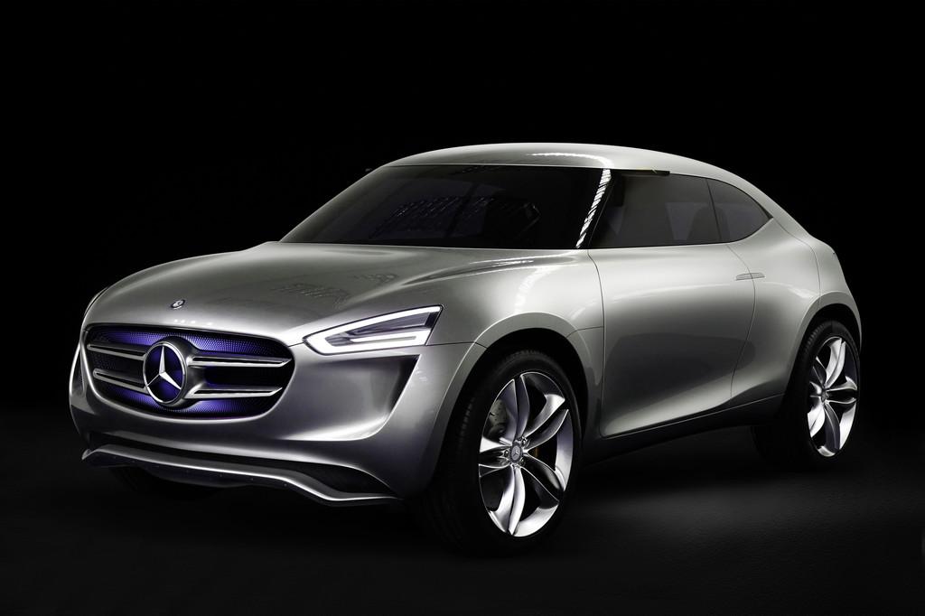 Silberner Mercedes-Benz-Studie G-Code