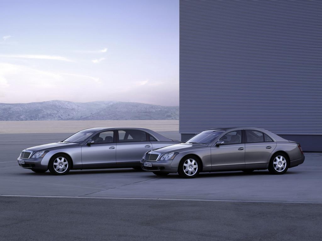 Luxuslimousine Mercedes-Maybach Standaufnahme