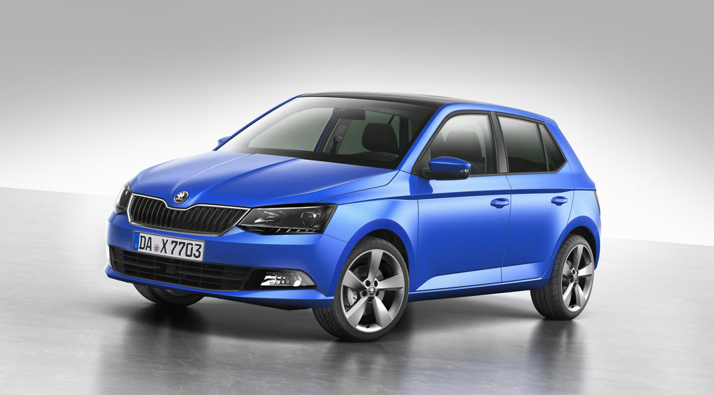 2014er Skoda Fabia in Blau Metallic
